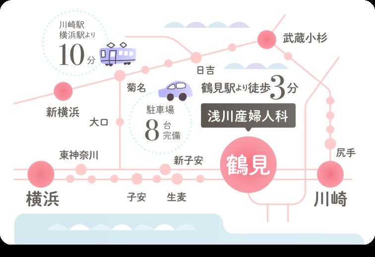 浅川産婦人科への地図